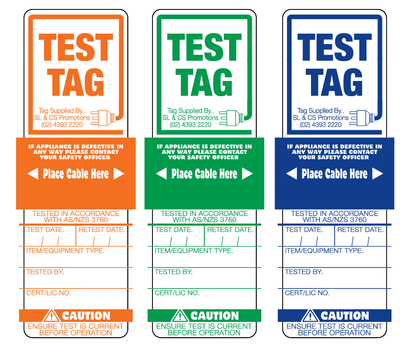 Generic Test Tags (One Colour Bags of 250)