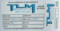 Air Conditioning Service Stickers