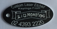 Laser Etched Key Tags